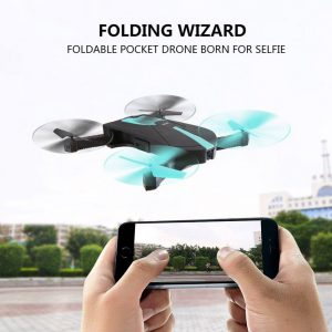 Wifi Pocket Drone,Multi-Band 360 Degree Rotatable Foldable