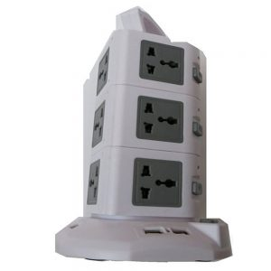 Vertical Power Socket Multi-function Plug 01