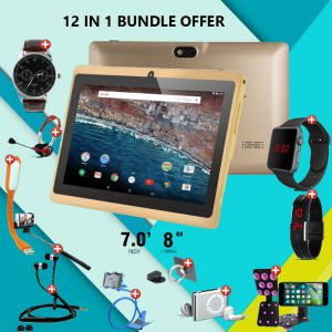 12 In 1 Bundle Offer, Lenosed A710 Tablet, With 11 Free Items