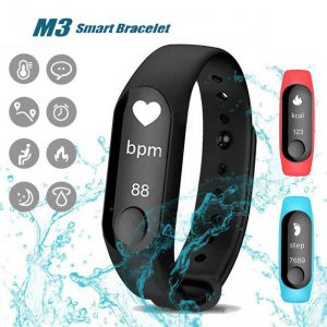 M3 Smart Sports Bracelet Fitness Band With Heart Rate Monitor Bluetooth Waterproof Pedometer Black, For Android & iOS